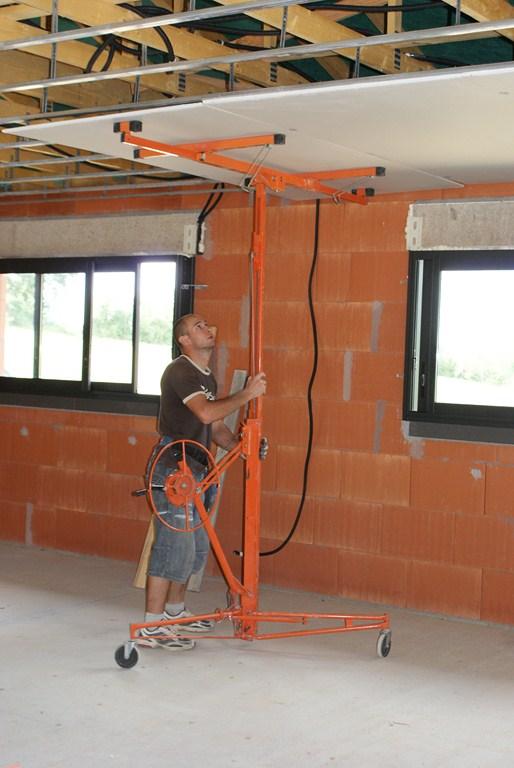 Mise en place du placo au plafond
